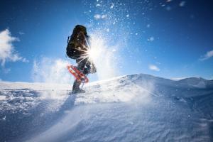 escursioni, ciaspolare, sole, senza sci